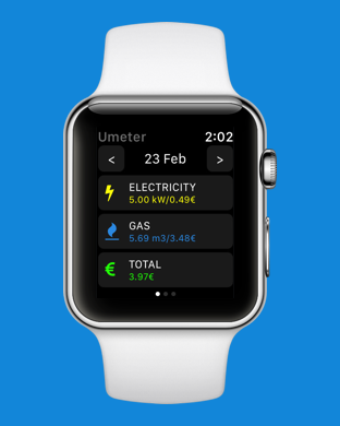 Umeter supports Apple Watch